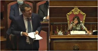 Open Arms, Salvini in the Chamber: