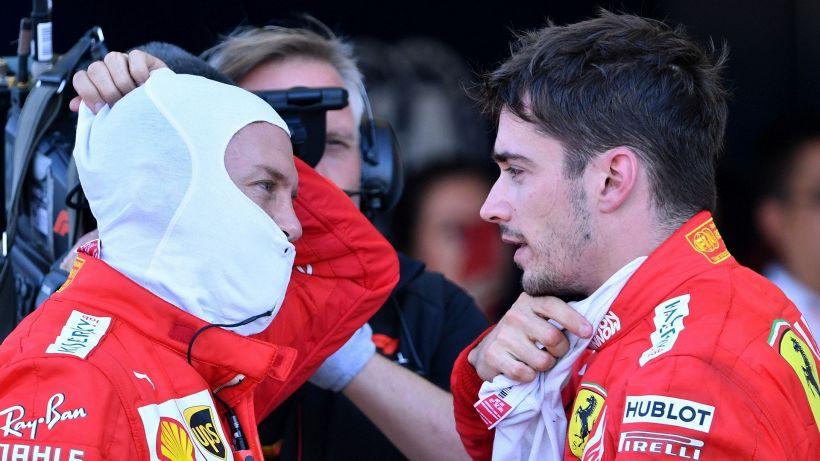 F1, Ferrari: Leclerc soddisfatto, Vettel ringhia: