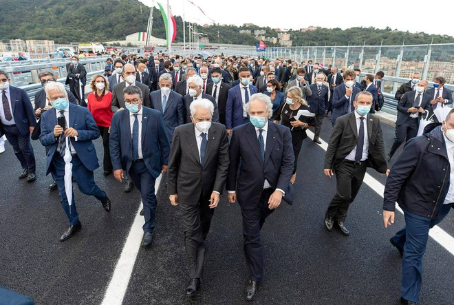 Ponte di Genova, il San Giorgio aperto al traffico. Concerto di corno