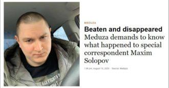 Bielorussia, reporter scomparso inviato per le elezioni:
