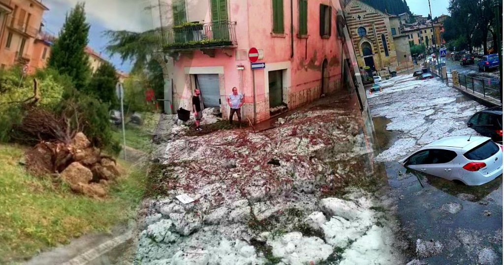 """Zaia dichiara lo stato di crisi per il Verona dopo il violento nubifragio: """"Città colpita al cuore"""". Strade sommerse e alberi sradicati - VIDEO"""