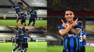 Inter, cinque da urlo e finale di Europa League: spettacolo di Lautaro e Lukaku